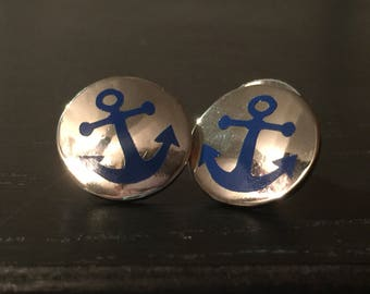 Anchor Accent Earrings