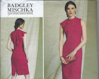 Vogue American Designer V1513 Dress Badgley Mischka 6 8 10 12 14  Uncut Factory Folded