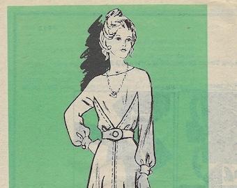 Vintage 1960s Mail Order Printed Pattern 4813 Chicago Tribune Newspaper Misses Dress Size 12  Uncut Factory Folded