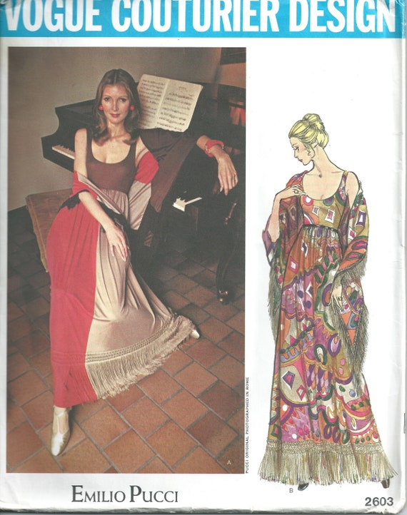 Emilio Pucci Pattern Formal Dress Pattern OOP Vogue Pattern Etsy Simple Vogue Evening Dress Patterns