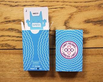 FUNKY HOLIDAYS GAME. Set of 52 cards. original illustration. animals on vacation. original game. gift idea
