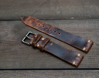 dad5ada55b3 Vintage leather watch band