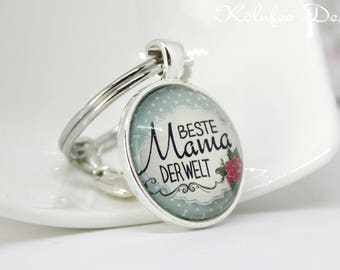 Key Ring mother Gift Best Mama of the World Birthday gift
