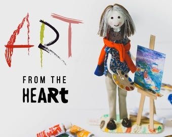Creative Art Dolls Anniversary Gift for Painter Artist Doll In Miniature