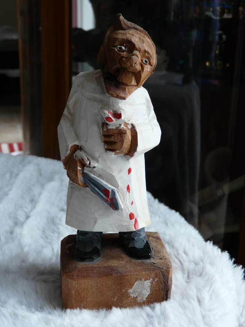 Hand Carved Dentist circa Germany 1950's image 0