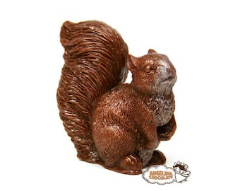 chocolate squirrel figurine squirrel gift thanks you gift chocolate small edible kids gift chocolate animals party chocolate woodland gift