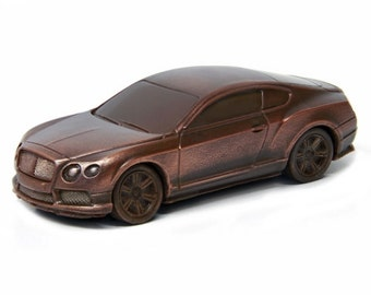 Chocolate Bentley Continental Edible Car Lover Gift Favors Corvette Boyfriend Husband Fast Sporty Dad Birthday