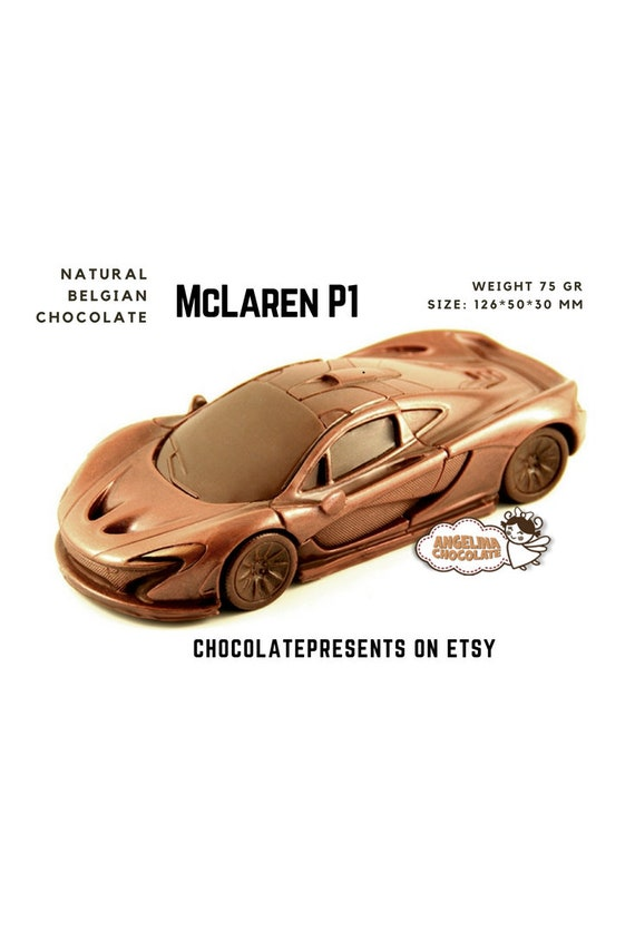 3d Chocolate Mclaren P1 Car Cake Topper Mclaren Candy Boy Etsy