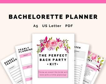 Bachelorette Planning Guide   34 digital printable worksheets