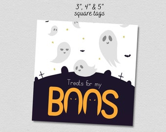 Treat for my Boos Printable Tag Designs for DIY treat bags gifts, digital download