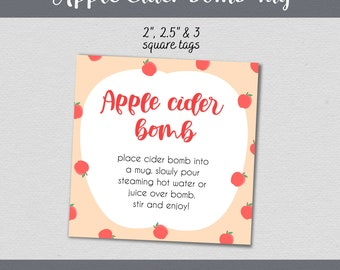 Apple Cider Bomb Printable Designs for DIY treat bags gifts