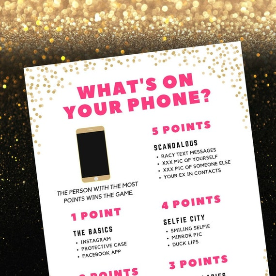 photo about Printable Bachelorette Party Games identify Whats upon Your Cellphone bachelorette activity, Exciting Naughty Printable Bachelorette Bash Online games for Obtain, Bachelorette Record Occasion Functions