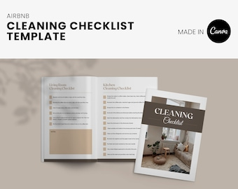 Cleaning Checklist for Airbnb VRBO, short term rental, instructions