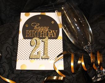 Black & Gold Elegant Special Birthday Card