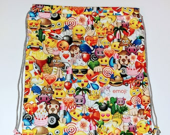 Emoji Reversible Drawstring Bag
