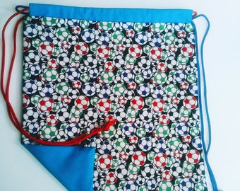 Soccer Reversible Drawstring Bag