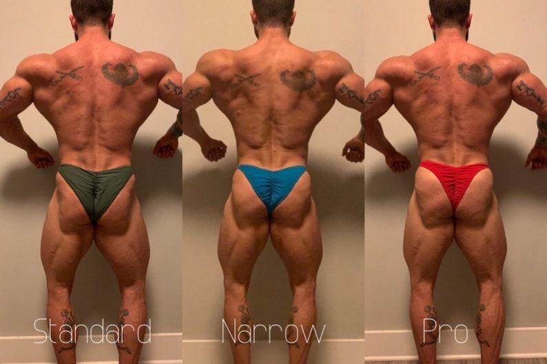 OCB Competition Trunks IFBB White Custom Men/'s Bodybuilding Posing Trunks  NPC