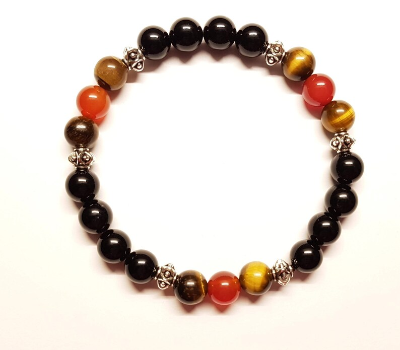 Natural semi precious stone bracelet handmade