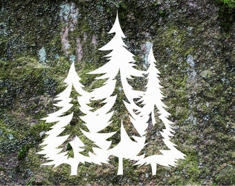 Pine Trees Decal