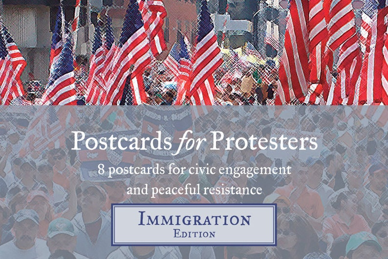 Postcards for Protesters Immigration Edition 8 Pack image 0