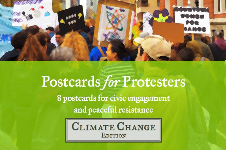 Postcards for Protesters  Climate Change Edition 8 Pack image 0