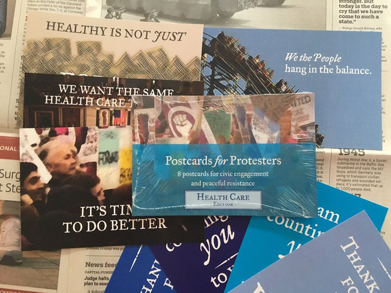 Postcards for Protesters  Health Care Edition 8 Pack image 0