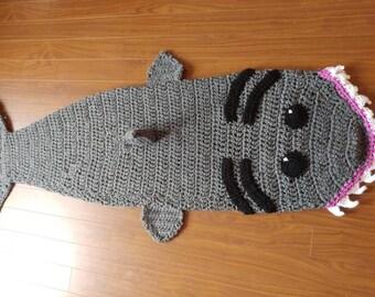 Cozy Shark Cuddle Sack