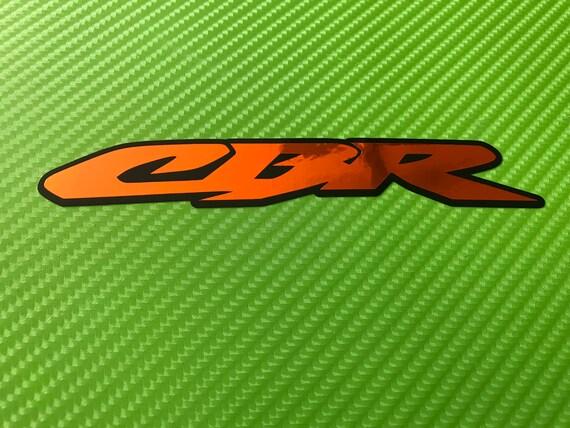 HONDA RACING style Decals Stickers x 2 CBR CB 1000 VFR vinyl fairing RED CHROME