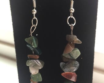 Dangling River Stone Earrings
