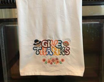 Hand Towel, Thanksgiving Towel, Kitchen Towel, Turkey Towel