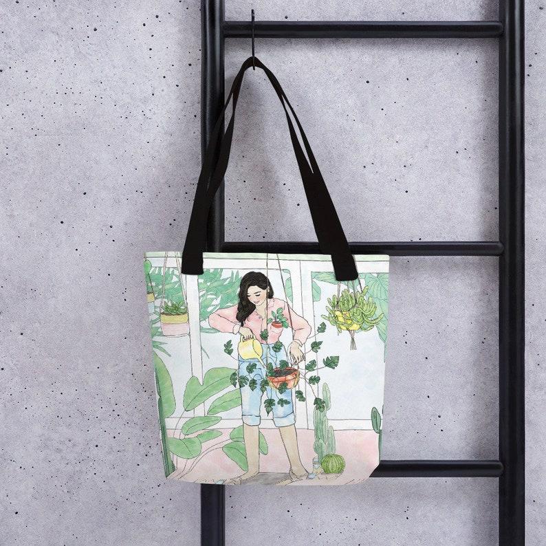 Tote bag yoga pose yoga love tote bag maitresse shopping bag canvas tote yoga bag book tote bag illustrated tote vegan tote
