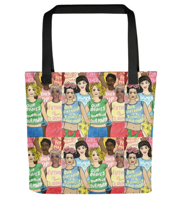 Unique Gifts Tote Bag Feminist Christmas Gift Ideas Feminism Feminist Bag Art Work Bag Feminist Tote Activist Girl Power Bag Girl Power