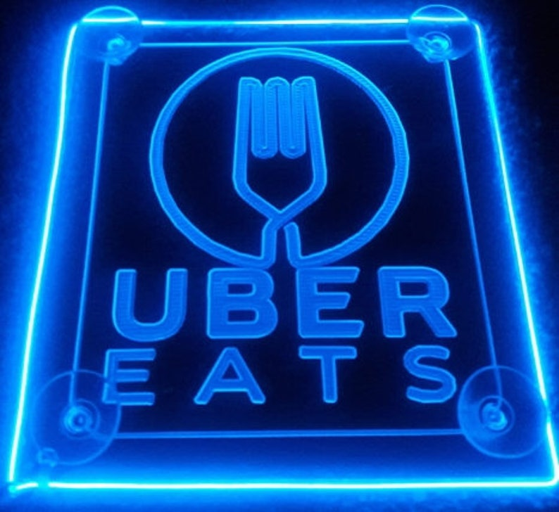 Uber EATS sign LED Car sign Acrylic engraving with AA Controller light 3  mode