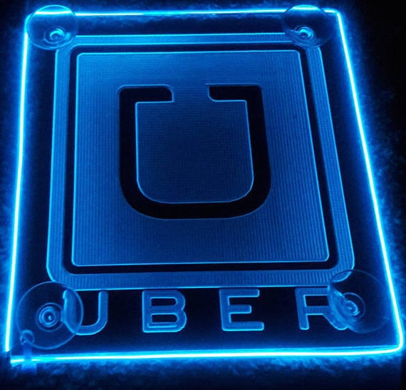 uber old classic logo car sign acrylic engraving with aa etsy. Black Bedroom Furniture Sets. Home Design Ideas