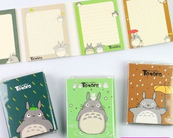 Japanese Cartoon Totoro Folding Memo Pad ~ Cute Notepad, Planner Journal Diary Notes, My Neighbor Totoro Stationery, Paper School Supplies