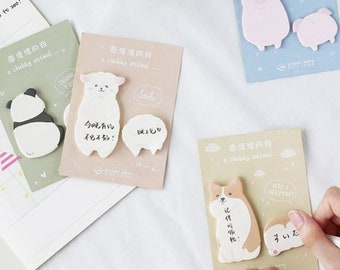 2019 New Corgis Memo Pad Stationery Book Marks Creative Cute Animal Sticky Notes School Supplies Paper Stickers Notebooks & Writing Pads Office & School Supplies