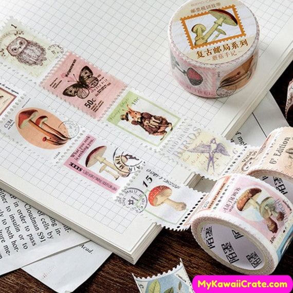 Retro Stamps Post Office Series Washi Tape Retro Style Washi Tape Vintage Deco Tape Masking Tape Scrapbooking Stamp Stickers Crafts Tape