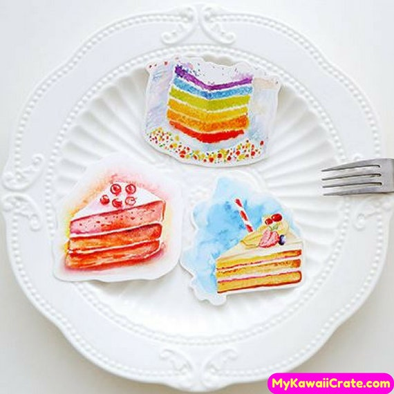Sweet Birthday Cake Mini Postcards Happy Birthday Cards Etsy