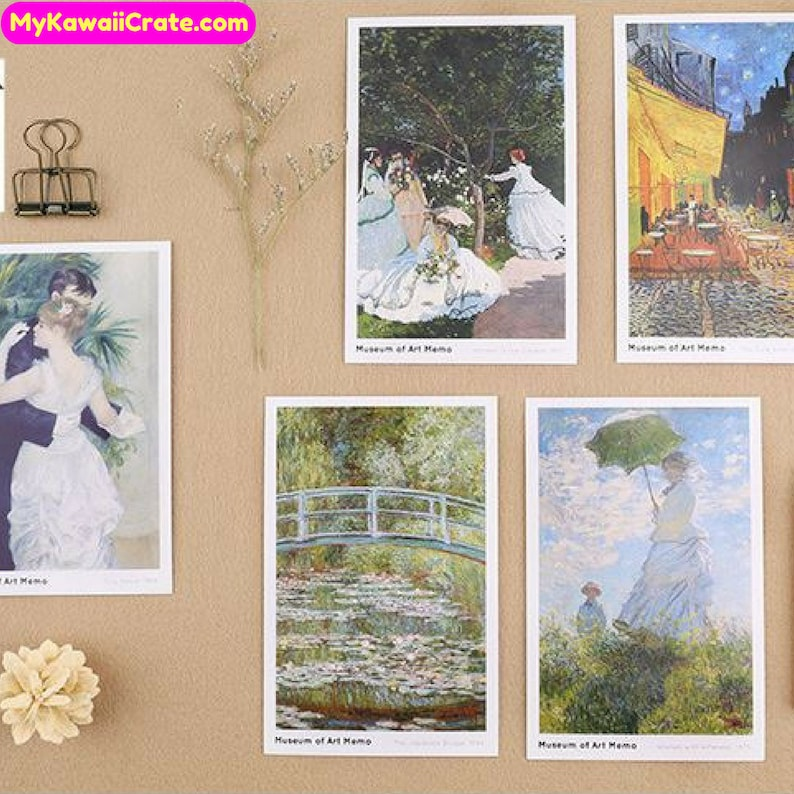 30Pc Pk Creative Art Museum Van Gogh Oil Painting Style Collectible Postcards