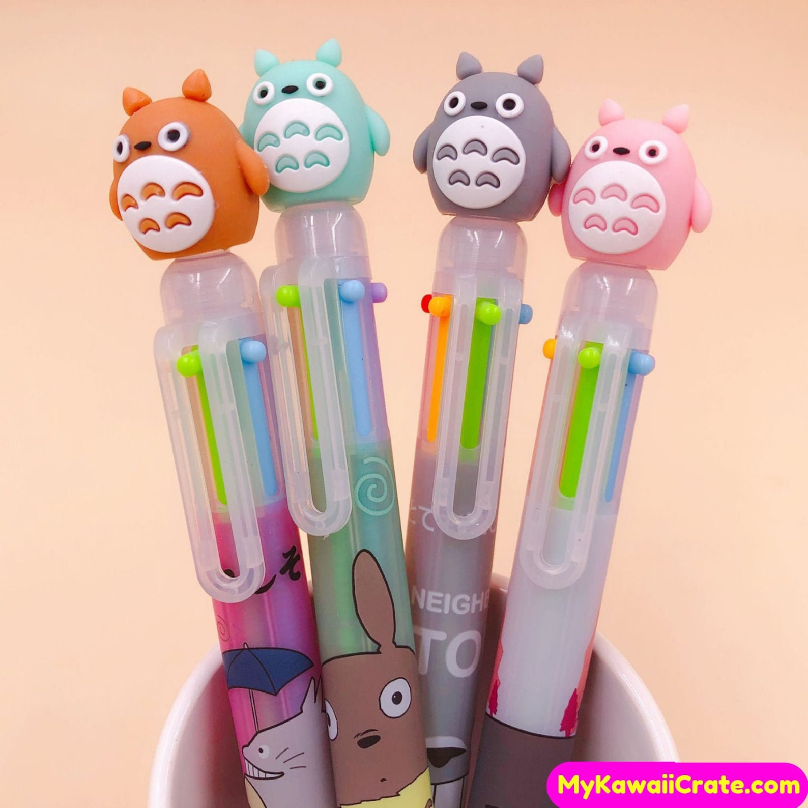 My Neighbor Totoro 6 Colors in 1 Ballpoint Pen ~ Multicolor Pen