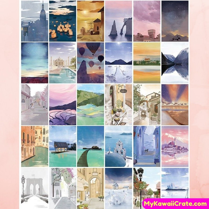 Around the World Memories Mini Postcards ~ Travel the World Cities Post  Card Greeting Card, Penpal Snail Mail Letter Collectible Travel Card