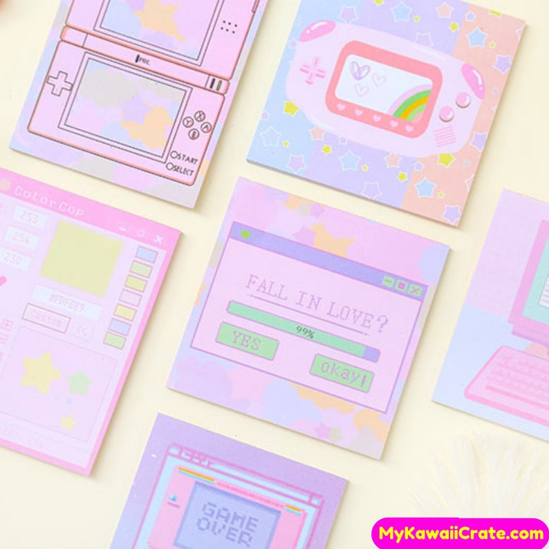 Gamer Girl Console and Computer Memo Notes ~ Kawaii Memo, Cute Notepad,  Planner Notes, Journal Pink Notes, School Supplies, To Do List Notes