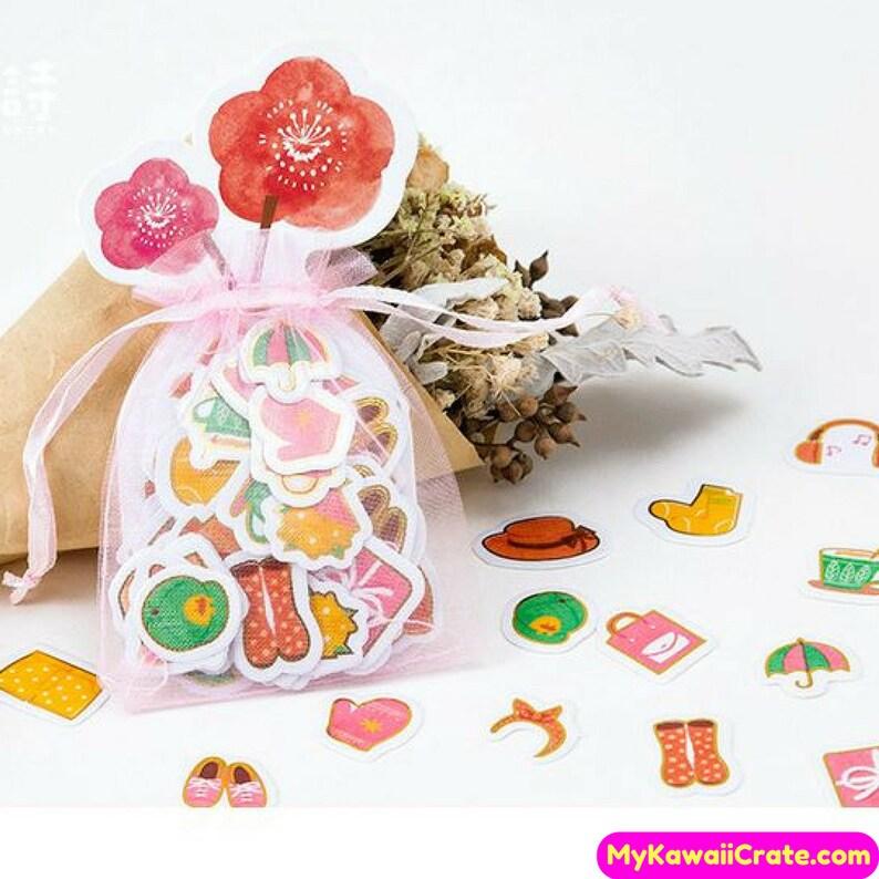 Zakka Life Mini Deco Stickers ~ Yoga Summer Travel Fruits Panda Stamps Sticker
