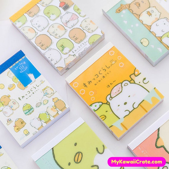 2pc Cute Cartoon Animal  Note Memo Pad Notebook Label Stationery Gift CN