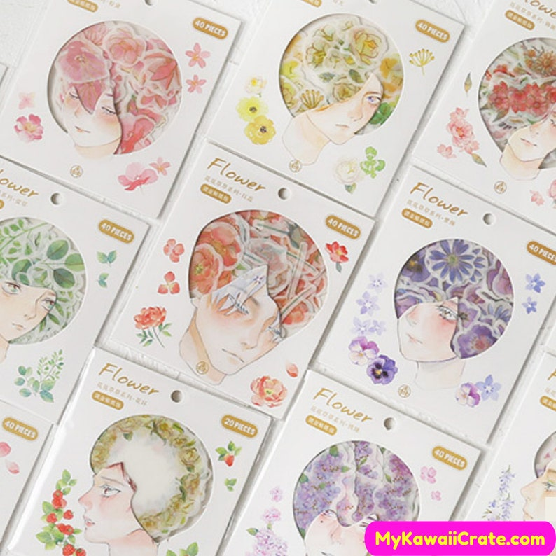 Vintage Style Leaf Stickers Approx 40 Pieces Craft Scrapbooking