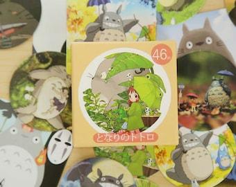 46 Pc Pk Kawaii My Neighbor Totoro Stickers ~ Cute Stickers, Scrapbooking Sticker Set, Japanese Cartoon Totoro Planner Journal Fun Stickers