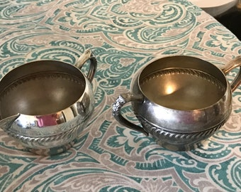 Set of Silverplate Creamer and Sugar