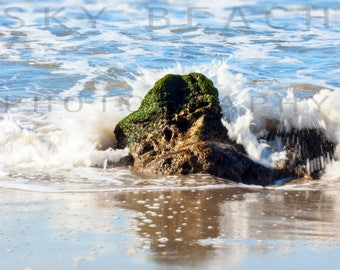 Malibu California Coast Beach Photo Pacific Coast Highway Photography Large Horizontal OR Vertical Beach Print Fine Art Photograph Canvas