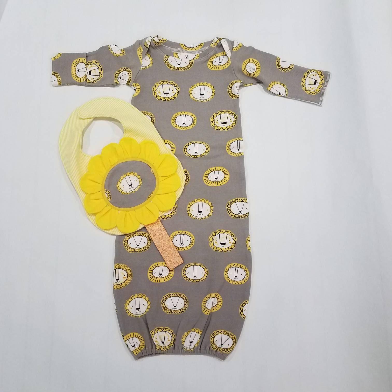 löwe baby schlafkleider mit lätzchen elastisches kleid  etsy