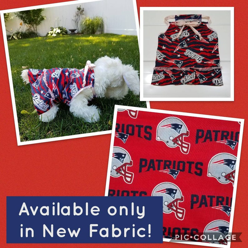 Nice New England Patriots Boston Red Sox dog dress 4th of July | Etsy  for sale